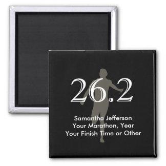 Personalized Marathon Runner 26.2 Keepsake Black Refrigerator Magnet