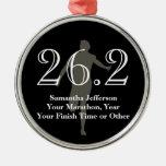 Personalized Marathon Runner 26.2 Keepsake Medal Metal Ornament