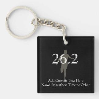 Personalized Marathon Runner 26.2 Keepsake Single-Sided Square Acrylic Keychain