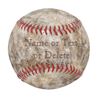 Personalized Marbled Look Dirty BASEBALL Your TEXT