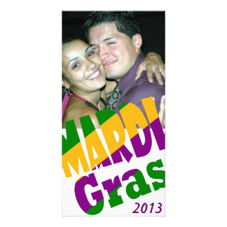 Personalized Mardi Gras 20xx Party Photo Card