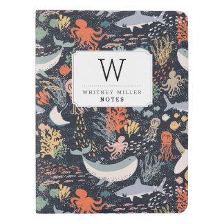 Personalized | Marine Life Extra Large Moleskine Notebook