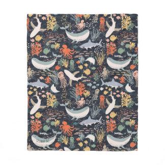Personalized | Marine Life Fleece Blanket
