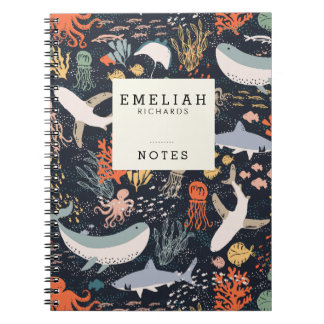 Personalized   Marine Life Note Book