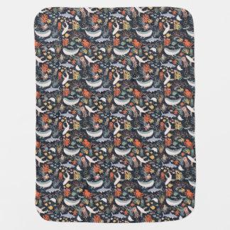 Personalized   Marine Life Swaddle Blanket