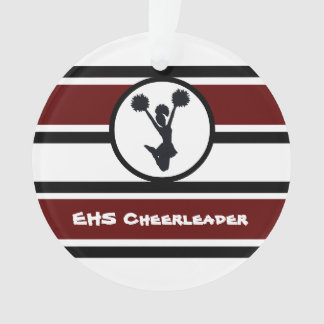 Personalized Maroon and Black Cheerleader Ornament