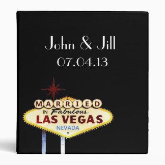Personalized Married in Las Vegas Wedding Album 3 Ring Binder