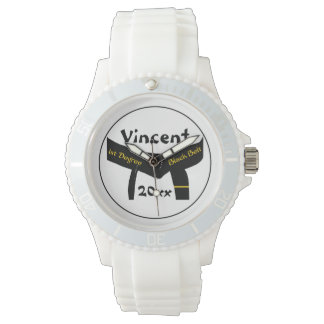 Personalized Martial Arts 1st Degree Black Belt Wristwatches