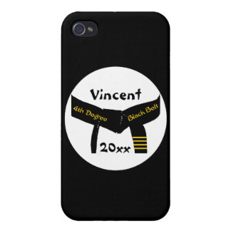 Personalized Martial Arts 4th Degree Black Belt iPhone 4/4S Covers