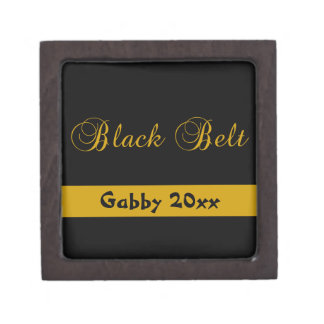 Personalized Martial Arts Black Belt Gift Box