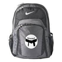 Personalized Martial Arts Black Belt Nike Backpack