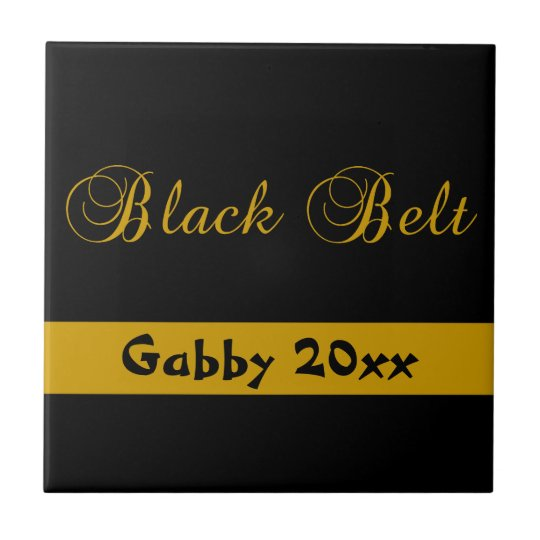 Personalized Martial Arts Black Belt Tile