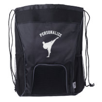 Personalized martial arts drawstring backpack