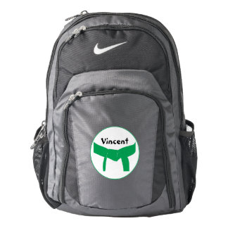 Personalized Martial Arts Green Belt Backpack