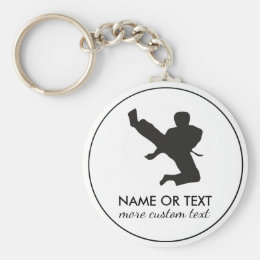 Personalized Martial Arts Karate Custom Name Keychain