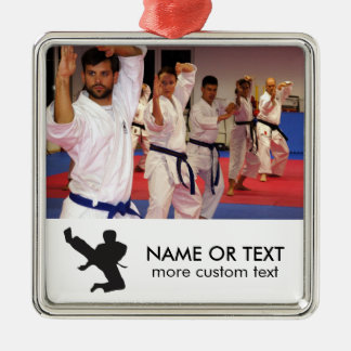 Personalized Martial Arts Karate Photo Christmas Metal Ornament