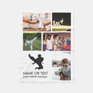 Personalized Martial Arts Karate Photo Collage Fleece Blanket