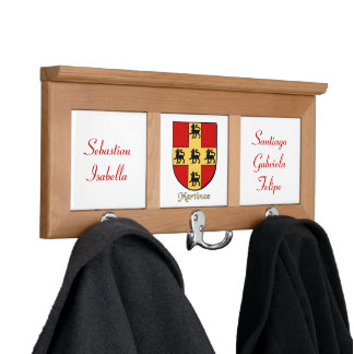 Personalized Martinez Family Historical Arms Coat Rack