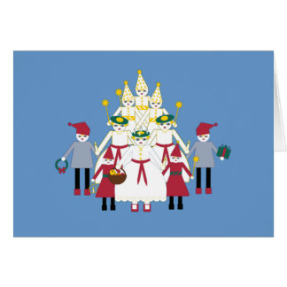 Personalized Martzkin St. Lucia Day Greeting Card