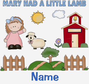 Personalized Mary Had A Little Lamb Nursery Rhyme T Shirt