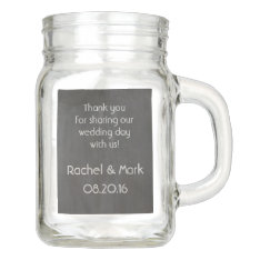 Personalized Mason Jar (with Chalkboard Look) at Zazzle