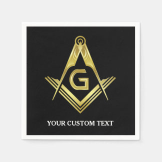 Personalized Masonic Napkins & Party Decorations