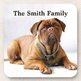 Personalized Mastiff / Dog on White Background Drink Coaster