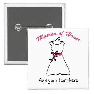 Personalized Matron of Honor Gifts 2 Inch Square Button