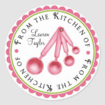 Personalized  Measuring Spoon Kitchen Stickers