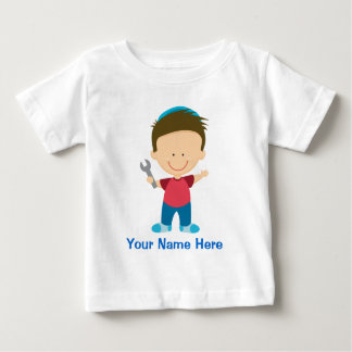 Personalized Mechanic Kids Occupation Gift Baby T-Shirt