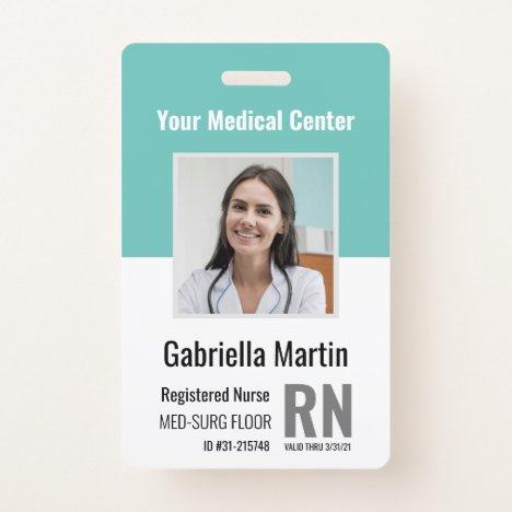 Personalized Medical Employee Photo ID Badge