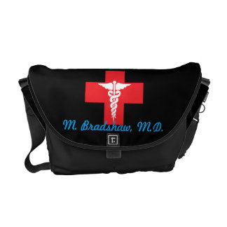 Personalized Medical Medium Messenger Bag