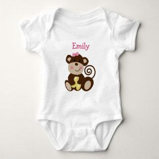 Personalized Melanie Monkey Girl baby Shirt
