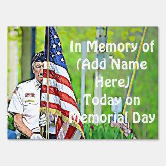 Personalized Memorial Memorial Flag Yard Sign