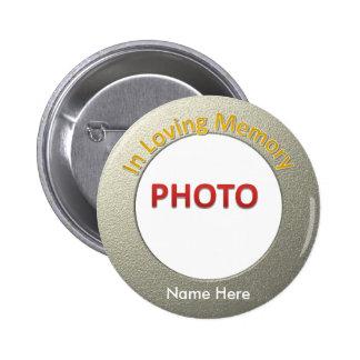 Personalized Memorial Photo Pinback Button