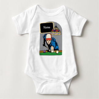 Personalized Mens Billiards Baby Bodysuit