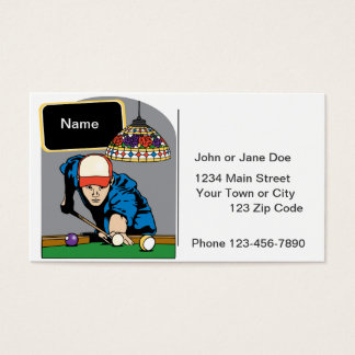 Personalized Mens Billiards Business Card