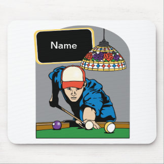 Personalized Mens Billiards Mouse Pad