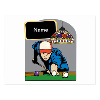 Personalized Mens Billiards Post Card