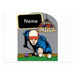 Personalized Mens Billiards Postcard