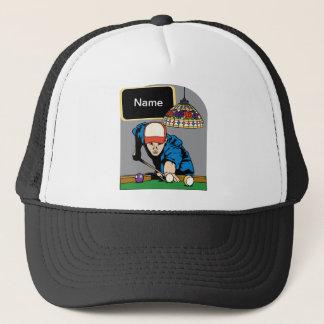 Personalized Mens Billiards Trucker Hat