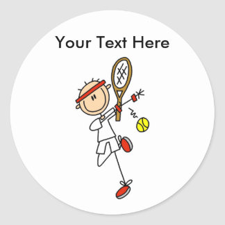 Personalized Men's Tennis Gifts Stickers