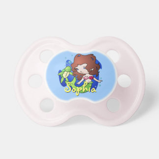 Personalized Mermaid and Turtle Pacifier