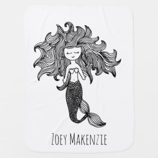 Personalized Mermaid Baby Blanket