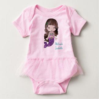 Personalized Mermaid Baby One Piece Tshirt