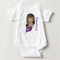 Personalized Mermaid Baby One Piece Tshirt