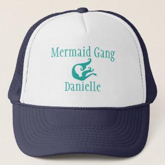 Personalized Mermaid Gang Trucker Hat