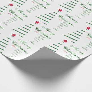 Personalized Merry Chrismas from Gift Wrap Paper