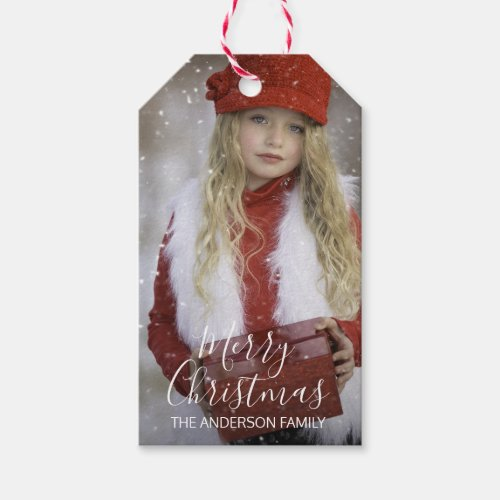 Personalized Merry Christmas   Add your PHOTO Gift Tags