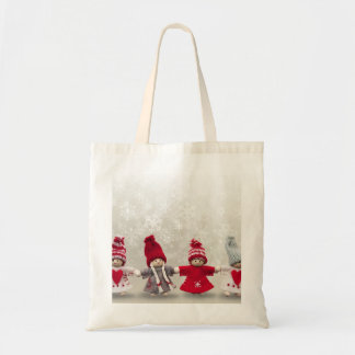 Personalized Merry Christmas Angel Tote Bag